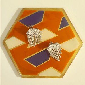 Small rhinestone chandelier earrings